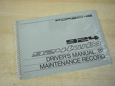 PORSCHE 924 & 924 TURBO NEW Drivers Handbook & Maintenance Record 1981  469 520