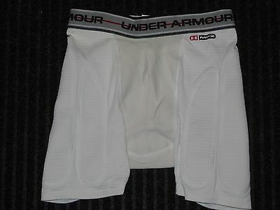 Under Armour MPZ Cup Pocket Compression Padded Shorts Boys Youth Large YLG White
