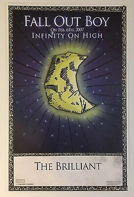 Fall Out Boy RARE PROMO ONLY poster # 5 of 5 Infinity On High The Brilliant