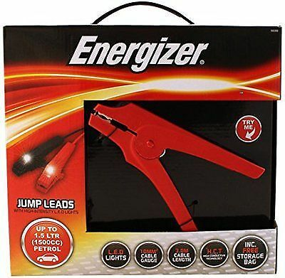 Energizer 50200B Car Jump Leads with LED Clamps, 3 m, 1500 cc