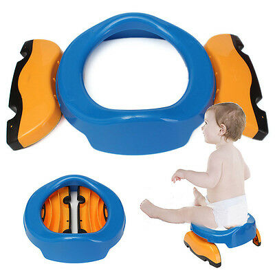 Foldable Portable Travel Potty Chair Toilet Seat For Baby Kids Plastic Chair TSU