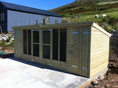 Kennel & Run, Double Kennel and runs  -  From £575