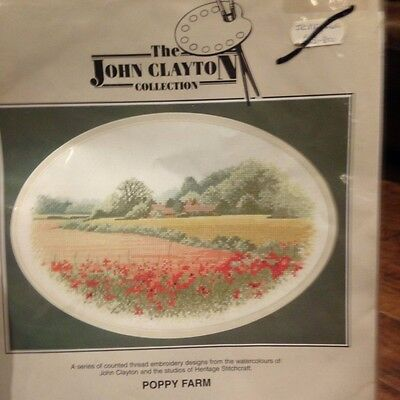 'Poppy Farm' - John Clayton Collection Counted Cross Stitch Chart only