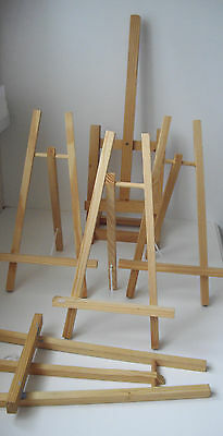 Table Easel Wooden 1x Large 4 x Small for Art Painting Display Free P&P