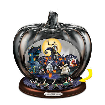 Nightmare Before Christmas Pumpkin Home Decoration  Bradford Exchange