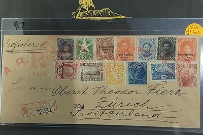 Hawaiian Registered cover 1896 scott#57,77,68,72,59,62,73,71,75,74,79,78,76,  R7