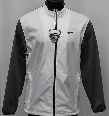 Nike Shield Full Zip Jacket - White Gray - 2016 Collection - Water Resistant