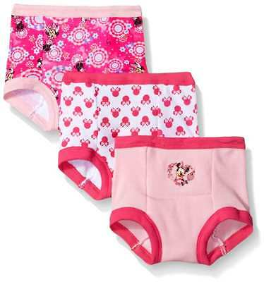 Disney Toddler Girls' Minnie 3 Pack Training Pant, Assorted, 3T