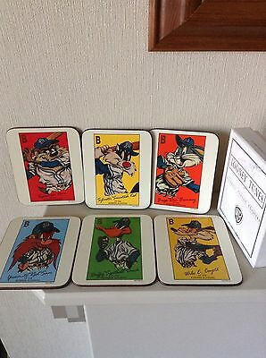 Looney Toons Baseball Classic Coasters  With Box 1993
