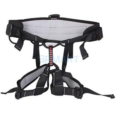 Outdoor Mountaineering Rock Climbing Harness Fall Arrest Safety Belt Black