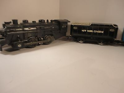 Marx 400 Locomotive with tin Cars in EXCEPTIONAL condition ! LQQK!