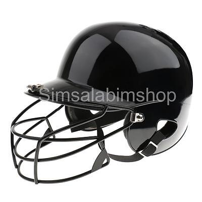 Black Professional Baseball Softball Batting Helmet Batters Face Guard Mask