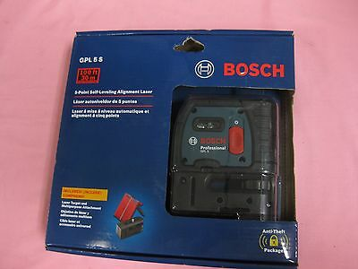 Bosch GPL5 S 5-Point Self-Leveling Alignment Laser Level NEW