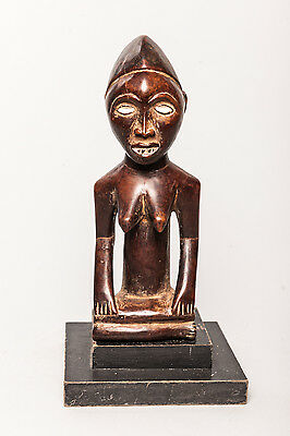 Yombe, Female Kneeling Ancestor Figure, D.R. Congo, African Tribal Sculpture