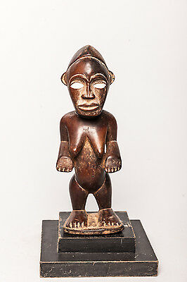 Yombe, Female Standing Ancestor Figure, D.R. Congo, African Tribal Sculpture