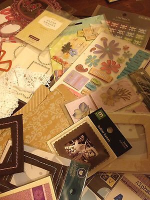 lot of scrapbooking Paper Embellishments Paper Stamps Stickers