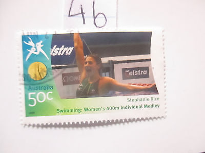 N o -46--2006 COMMONWEALTH  GAMES  -USED  50c  VALUES  ---A1  ORDER