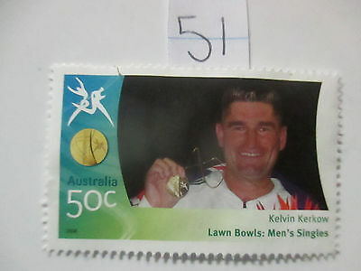 N o -51--2006 COMMONWEALTH  GAMES  -USED  50c  VALUES  ---A1  ORDER