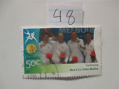 N o -48--2006 COMMONWEALTH  GAMES  -USED  50c  VALUES  ---A1  ORDER