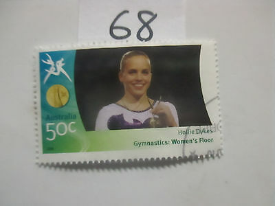 N o -68--2006 COMMONWEALTH  GAMES  -USED  50c  VALUES  ---A1  ORDER