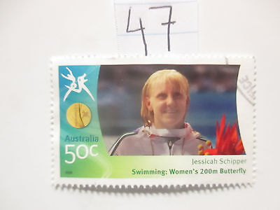 N o -47--2006 COMMONWEALTH  GAMES  -USED  50c  VALUES  ---A1  ORDER