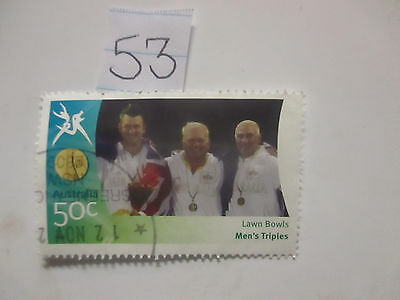 N o -53--2006 COMMONWEALTH  GAMES  -USED  50c  VALUES  ---A1  ORDER