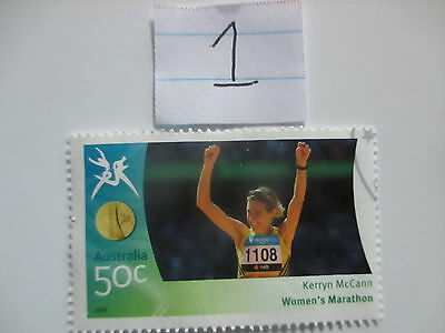 N o -1--2006 COMMONWEALTH  GAMES  -USED  50c  VALUES  ---A1  ORDER