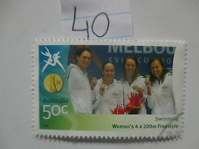 N o -40--2006 COMMONWEALTH  GAMES  -USED  50c  VALUES  ---A1  ORDER