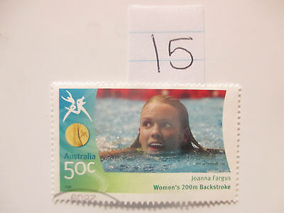 N o -15--2006 COMMONWEALTH  GAMES  -USED  50c  VALUES  ---A1  ORDER