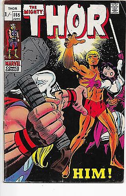 The Mighty Thor #165 Marvel Comics Silver Age 1st Warlock F-