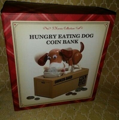 Hungry Eating Dog Coin Bank Robotic Dog New In Box