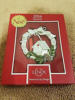 "NEW 2016 Lenox Annual ""BLESS THIS HOME"" CHRISTMAS Ornament In Original Box"