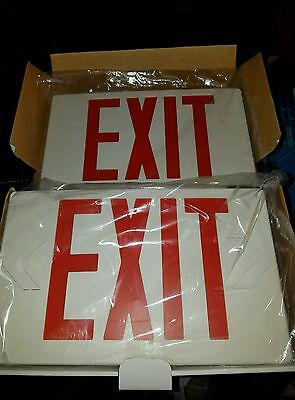 LED Universal Exit Sign w/ Emergency Battery Backup Lighting Fixture Red Letter