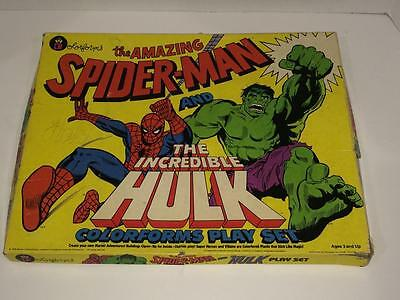 Amazing Spider-man  and Incredible Hulk Giant colorforms 1979