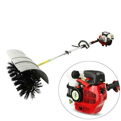 Hand Held 52cc Gas Power Walk Behind Sweeper Broom Cleaning Concrete Driveway CE