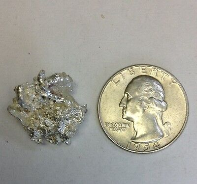 .999 Silver Crystal Nugget Nevada Mining - Natural Form * THE REAL DEAL * 8.24g