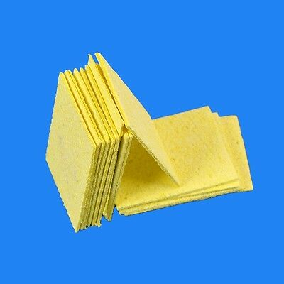 10Pcs Welding Soldering Iron High Temperature Enduring Condense Cleaning Sponge
