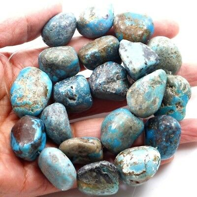 """18-25mm Natural Blue Genuine Turquoise Nugget Loose Beads 15"""" (TU656)g FREE SHIP"""