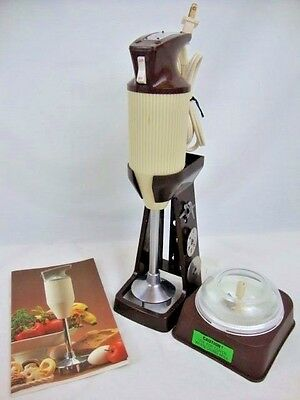Vtg BAMIX M100 Magic Wand Blender 4 BLADES Manual Recipe BOOK Switzerland ESGE