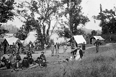 New 5x7 Civil War Photo: Union - Federal Camp by Tennessee River, Chattanooga