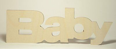 """Wooden Letters """"Baby"""""""