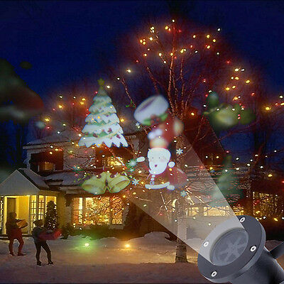 Outdoor Moving Santa Claus Snow Laser Projector Christmas Outdoor LED Light Lamp