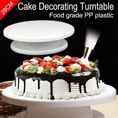 28cm 11 Rotating Cake Decorating Turntable MODELLING tool Display Stand MoulF1