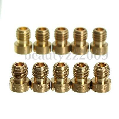 10x Carburetor Carb Main Fuel Jet Injector Nozzle For Keihin CVK (100#-140#)
