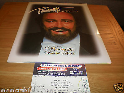 Luciano Pavarotti Programme And Ticket Newcastle Telewest Arena September 2000