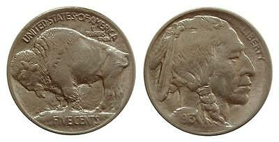 e694 United States 1913 Type 1 Buffalo Indian 5 Cents Mint Luster
