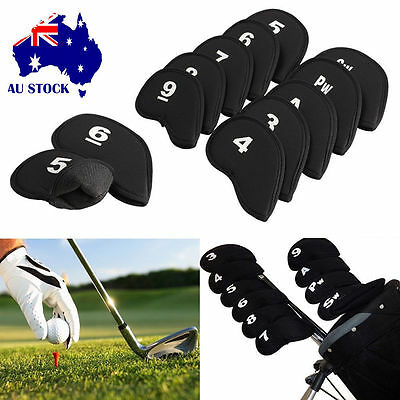 10pcs Neoprene Golf Club Iron Headcover Head Cover Wedge Protector Case Putter