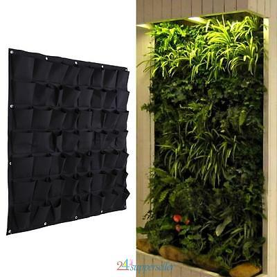 56 Pocket Hanging Vertical Garden Planter Indoor Outdoor Herb Pot Bag Decor AU