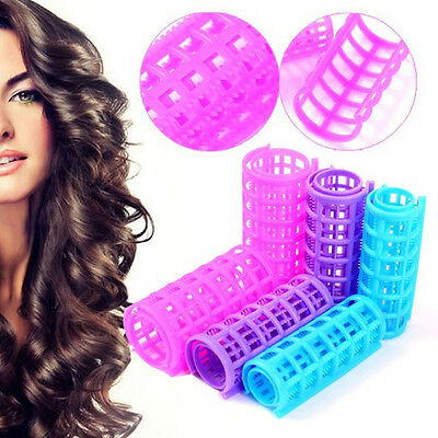 New 6/8/10/12Pcs Large Hair Salon Rollers Curlers Tools Hairdressing Soft DIY