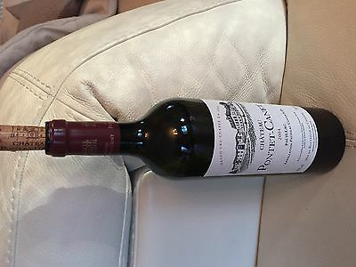 Empty Red Wine Bottle  With Cork, 750Ml- Chateau Pontet Canet 2004,pauillac